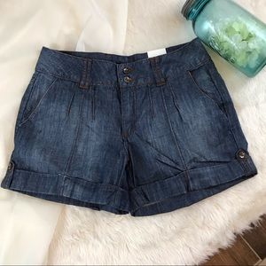 a.n.a High Waist Denim Cuffed Shorts NWT